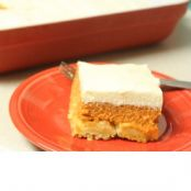 Pumpkin Crunch/Dump Cake with Cream Cheese Frosting