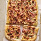 Parmesan Cream and Sausage Pizza