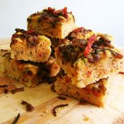 Sundried Tomatoes Focaccia with Caramelised Onions and Herbs