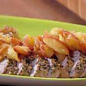 Roasted Pork Tenderloin with Escalloped Apples (Rachael Ray)
