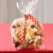 Ginger-Caramel Corn with Cashews & Cranberries