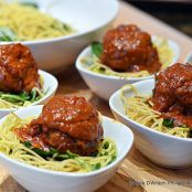 Moroccan Meatballs with Lemon Pepper Pasta