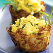 Scrambled Egg-Potato Baskets