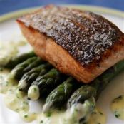 Seared Salmon with a Lemon -Chive Beurre Blanc