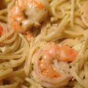 Shrimp with Pesto Cream Sauce