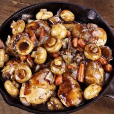 Vinegar Braised Chicken & Mushrooms