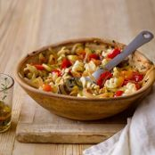 Fusilli with Yellow Squash & Grape Tomatoes