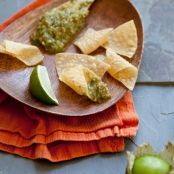 Roasted Tomatillo & Green Olive Salsa