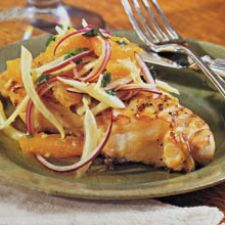 Grilled Fish with Orange Fennel Salsa