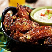 Oven-Baked Bacon-Ranch Chicken Wings