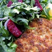 Nutty Chicken Cutlets with Citrus Salad