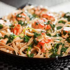 Slow Cooker Salmon Spinach Pasta