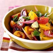 Tomato, Avocado and Golden Beet Salad