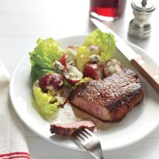 Steak With Potato Salad