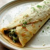 Spinach and Ham Crepes