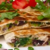 Grilled Chicken Quesadillas with Corn and Black Beans