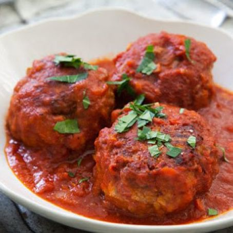 John's Tomato Sauce with Veal Meatballs