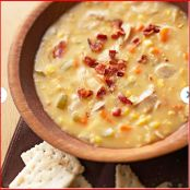 Slow cooker creamy chicken and corn soup