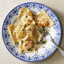 Butternut Squash Ravioli with Rosemary-Sage Butter