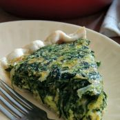 Cheddar and Spinach Quiche