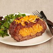 Macaroni & Cheese Stuffed Meatloaf