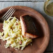 Crisp-Skinned Salmon (Plus Creamy Leeks and Cabbage)