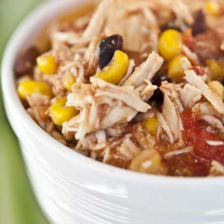 Slow Cooker Southwest 2 Bean and Chicken Chili