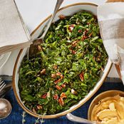 Quick-Cooked Collards with Pecans & Lemon