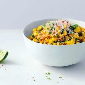 Veggies: Roasted Corn with Manchego and Lime