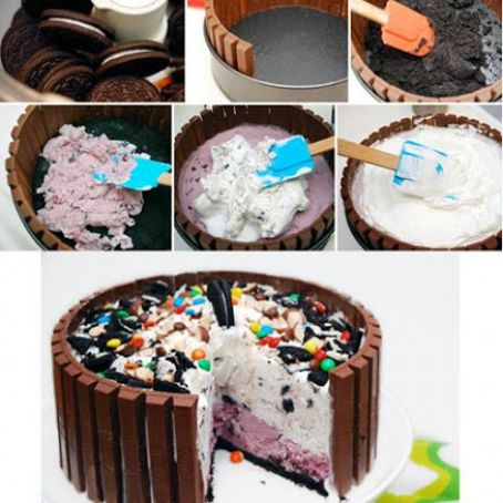 Remarkable Kit Kat Ice Cream Cake Recipe 4 4 5 Birthday Cards Printable Opercafe Filternl