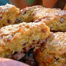 Harvest Pumpkin Scones, adapted from King Arthur Flour