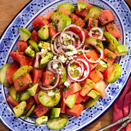 Tomatillo-Watermelon Salad