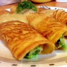 Chicken and Broccoli Crepes