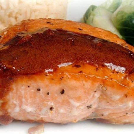 Wasabi & Honey Glazed Salmon