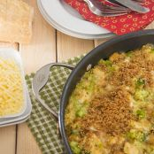 Easy Quinoa Cheddar Bake with Chicken and Broccoli