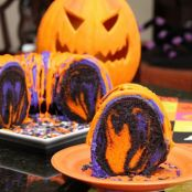Amazing Halloween Rainbow Party Bundt Cake