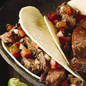 Pepper Steak Tacos with Pico De Gallo