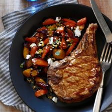 Pork Chops With Maple-Glazed Carrots