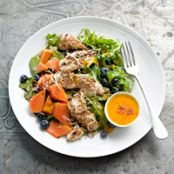 Papaya and Coconut Chicken Salad