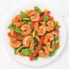 Orange Shrimp and Snow Peas (Hunan)