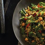 Barley Salad with Pan-Roasted Carrots & Chickpeas