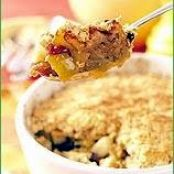 pear and apple crumble