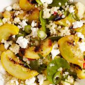 Couscous Salad with Grilled Squash, Feta and Mint