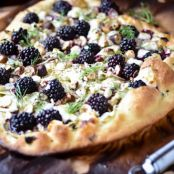 Blackberry Fennel & Goat Cheese Pizza