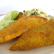 Cornmeal Crusted Tilapia W/ Avocado Cream