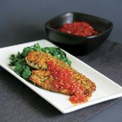 Herb & Parmigiano Crusted Tilapia with Quick Tomato Sauce