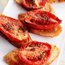 Autumn Tomato Bruschetta