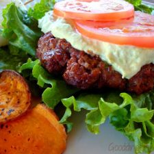 Juicy Grilled Burgers with Avocado Sauce