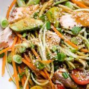 Not Your Standard's Asian Salmon & Zucchini Noodle Salad