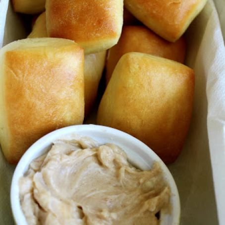 Texas Roadhouse Rolls with Cinnamon-Honey Butter